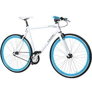 28 Fixie Singlespeed Bike Viking Blade 5 Farben zur Auswahl, Farbe: Weiß /...