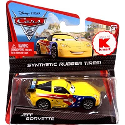 Disney / Pixar CARS 2 Movie Exclusive 155 Die Cast Car with Synthetic Rubber Tires Jeff Gorvette: Toys & Games