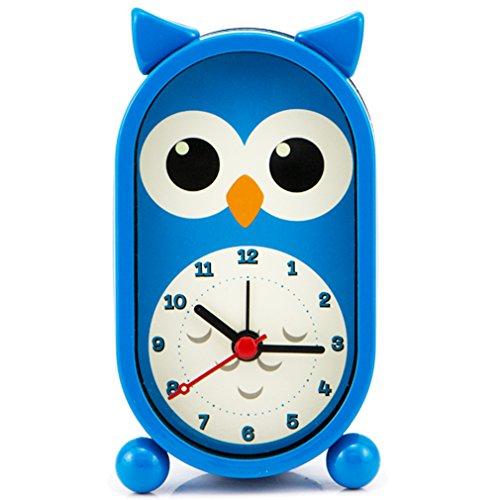 UPC 600316282284, Pilife Quartz Analog Cartoon Image Design Alarm Clock Battery Operated(Lovley Owl Blue)