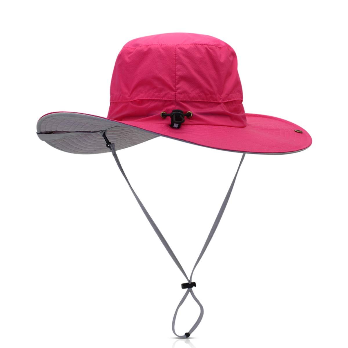 DORRISO Pliable Chapeau Soleil Jungle Vacances Alpinisme Camping Outdoor /Étanche Voyage Safari Casquette Homme Femme Bucket Hat Ajustable 56-62CM
