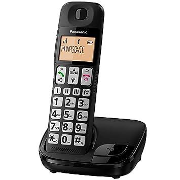Panasonic KX-TG310 - Teléfono fijo inalámbrico(LCD grande, teclas grandes, agenda de 50 números, bloqueo de llamadas, modo ECO, compatible con ...