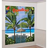 Lunarland PALM TREES Paradise SCENE SETTER Wall Decoration Birthday Party Backdrop Beach offers