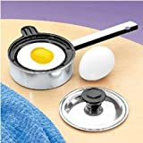 Individual Single Egg Poacher Non Stick Aluminum with Cover (1 Each)
