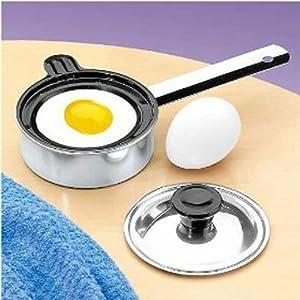 Amazon.com: Individual Single Egg Poacher Non Stick Aluminum with ...