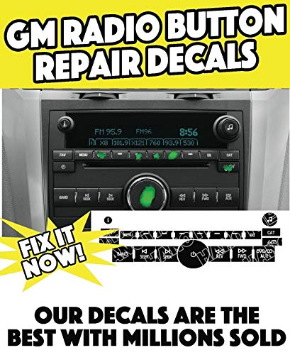 2007-11 Chevy Traverse Radio Stereo+Climate CTRL Button Decal Sticker Repair Set