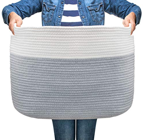 The Lucky Baby Boutique EXTRA LARGE JUMBO Basket - | 24x14x18 | Toys Throw Blankets Laundry Shoe Pillow Baskets | Cute Toy Storage Basket for Nursery ...