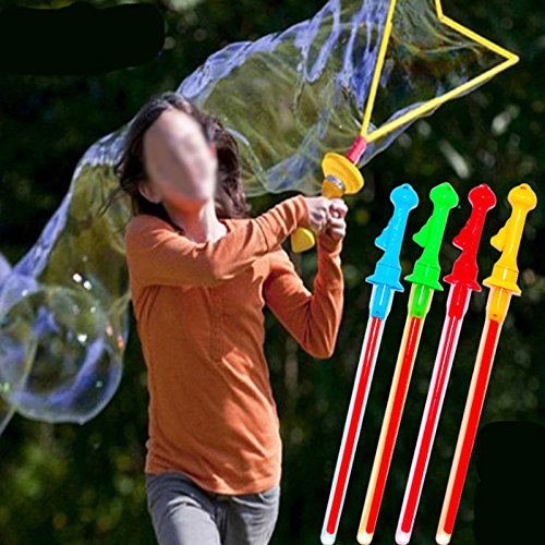 UNAKIM-46cm Plastic Kids Children Colorful Toys Bubble Giant Bubble Sword Wand (Chew 46)