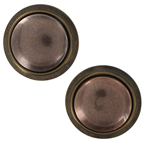 - Trendy Giant Statment Earrings Distressed Oxidzed Copper Bronze Two Tone 2