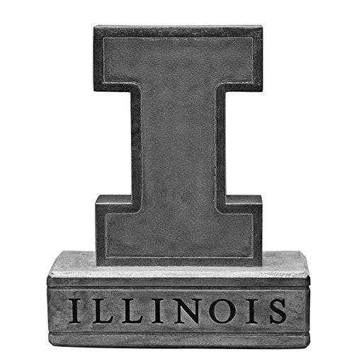 Illinois Fighting Illini NCAA ''Block I Logo'' College Mascot 16.5in Vintage Statue by Stone Mascots