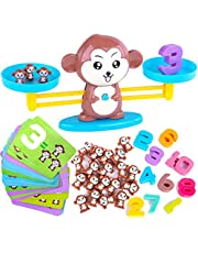 Monkey Balance Cool Math Game for Girls & Boys | Fun, Educational Children's Gift & Kids Toy STEM Learning Ages 3+ (65-Piece Set)
