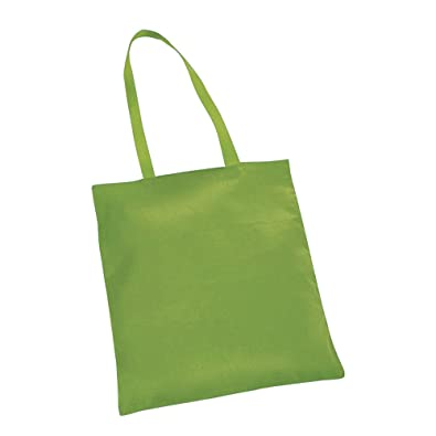 0a9fd30b2 10 NATURAL COTTON TOTE BAGS SHOPPERS LIGHT GREEN: Amazon.co.uk: Shoes & Bags