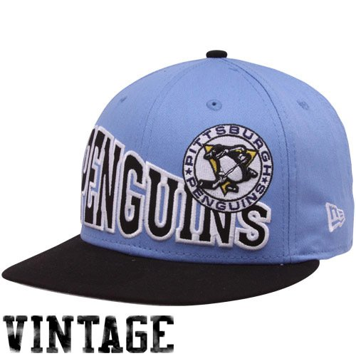 NHL New Era Pittsburgh Penguins Light Blue-Black Stoked Snapback Hat