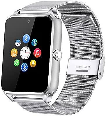 Fantime Smartwatch Relojes Inteligentes Bluetooth Smartwatches Soporta Llamada Mensaje Tarjeta SIM/TF Pantalla Táctil /Facebook/Twitter/Podómetro/ ...