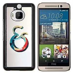 """Be-Star Único Patrón Plástico Duro Fundas Cover Cubre Hard Case Cover Para HTC One M9+ / M9 Plus (Not M9) ( Y Océano Azul Rojo Ballena Gris Amarillo"""" )"""