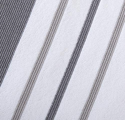 Great Bay Home 6-Piece Luxury Hotel/Spa Turkish Cotton Striped Towel Set, 500 GSM. Includes Bath Towels, Hand Towels and…