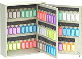 Acrimet Key Cabinet, 96 Positions, with 96 Key Tags Assorted Colors