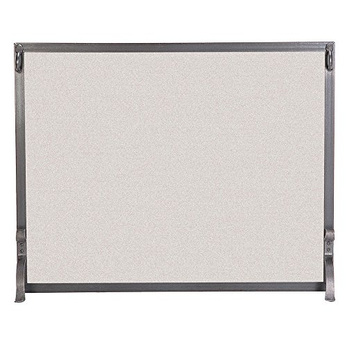 (Pilgrim Home and Hearth 18282 Forged Iron Single Panel Fireplace Screen, 39″W x 31″H 22 lbs, Vintage)