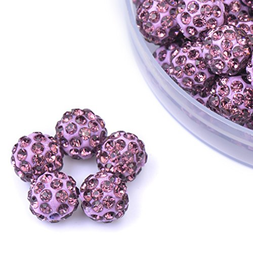 purple beads for jewelry making - 6
