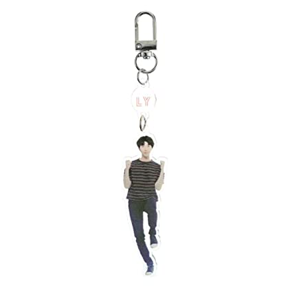 Youyouchard 2PCS/Set Kpop BTS BTS Keychain Love Yourself World LY Tour Official Mini Acrlic Keyring Key Chain(RM)
