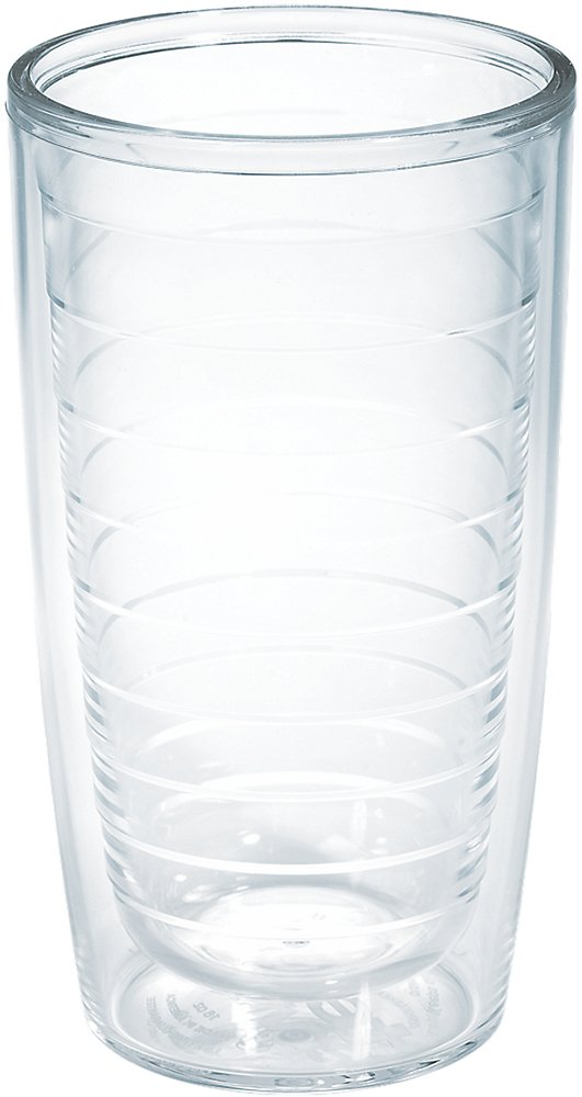 Tervis 1001837 Clear & Colorful Insulated Tumbler 16oz, Clear