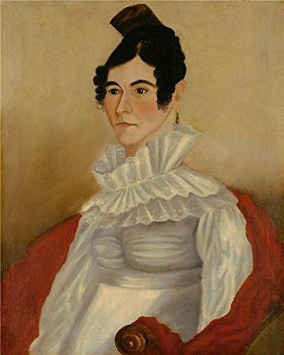 nathaniel-lakemanportrait-of-woman-with-comb1822-oil-painting-16x20-inch-41x51-cm-printed-on-high-qu