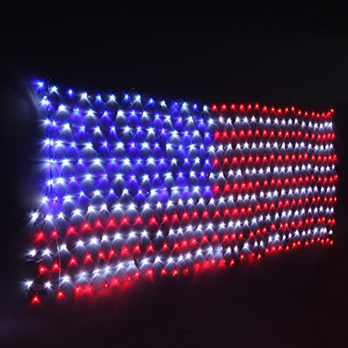 HuiZhen Awesome LED Flag Net Light,6.5ft×3.2ft Waterproof Flag Net Light of The United States,Waterproof American Flag Light for Independence Day,Memorial Day,Festival,Garden,Indoor and Outdoor (Usa Lights Flag)