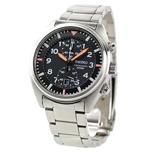 Seiko Men's Quartz Stainless Steel Casual Watch, Color:Silver-Toned (Model: SNN235)