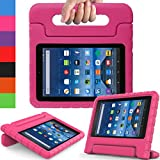 AVAWO Kids Case for Fire 7 2017 - Light Weight Shock Proof Handle Kid-Proof Case for Fire 7 inch Display Tablet (7th Generation - 2017 release), Rose