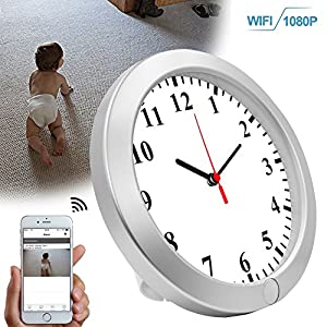 CAMAKT Wi-Fi Camera Wall Clock 1080P, Baby Pet monitors, HD Nanny Camera Clock Security Surveillance with Motion Detection Supports Android IOS Live View - - Latest Version