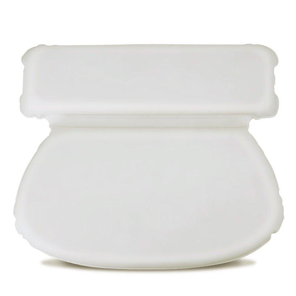 Waroomss cuscino da vasca da bagno confortevole impermeabile e traspirante con ventose per la testa e la schiena per gli uomini delle donne