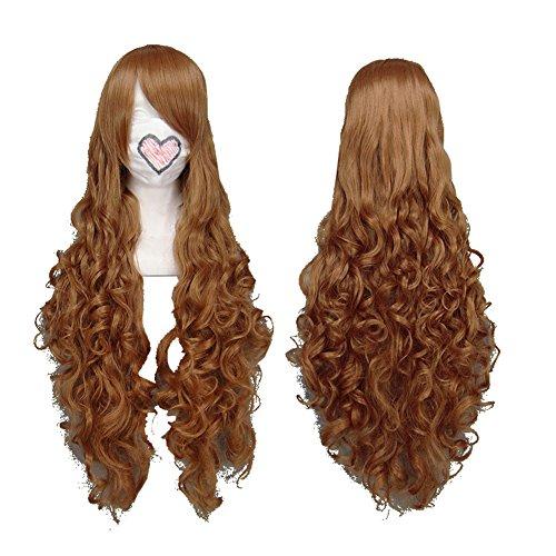 Xcoser Hetalia Hungary Hetalia Elizaveta Hedervary Cosplay Long Curly Brown Wig for Cosplay]()