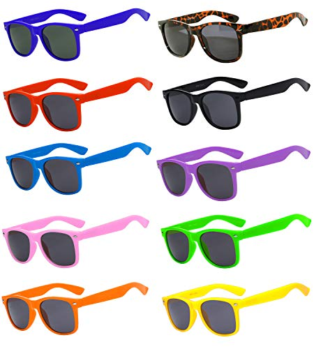Wholesale Bulk Retro Vintage Smoke Lens Sunglasses 10 Pairs Many Colors Frame OWL ()