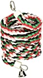 A&E CAGE COMPANY HB553 Happy Beaks Cotton Rope Boing with Bell Bird Toy, 1 by 96'', Multicolor