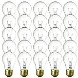 A15 Light Bulbs - 15 watt Replacement Bulbs - A 25 Pack
