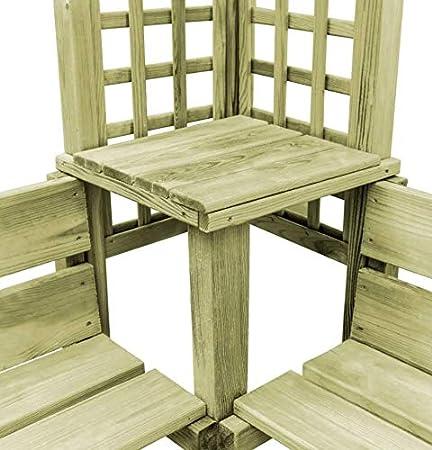 Pérgola de jardín de madera para exteriores, mueble esquinero con estructura grande, asiento de amor, rústico, madera de pino macizo, arco, patio, césped, soporte alto, plantas de escalada, arco, enrejado, refugio: Amazon.es: