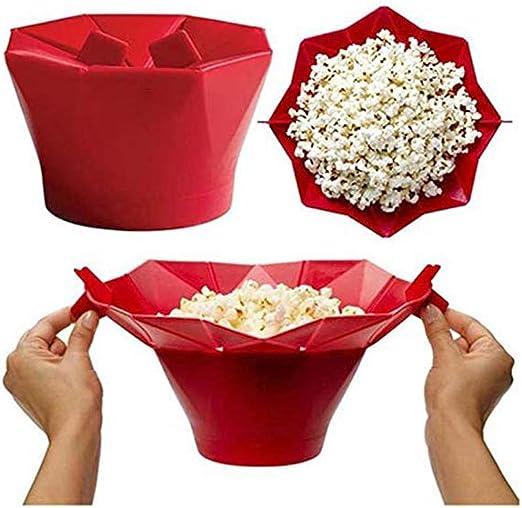 Microondas de silicona máquina de palomitas de maíz cubo de cocina ...