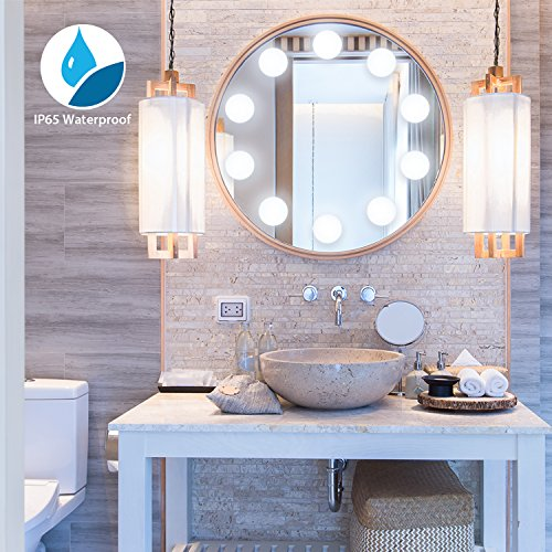 [2018 UPGRADED] Hollywood Style LED Vanity Mirror Lights Kit, Auledio Makeup light with 10 Dimmable Bulbs and Touch Dimmer for Makeup Vanity Table Set in Dressing Room (Mirror Not Include)