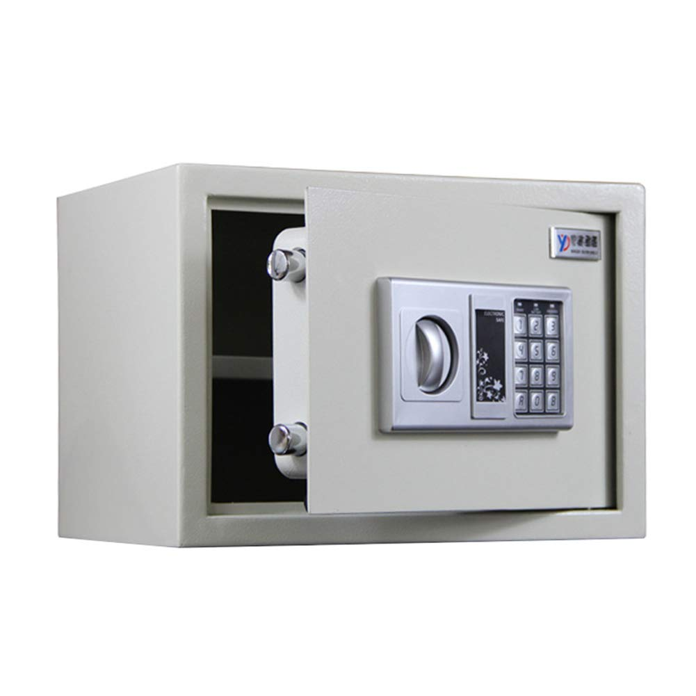 Elektronisches Zahlenschloss,Elektronisches Zahlenschloss, Wand- und Bodenbefestigung für Wertgegenstände und Dokumente,35 x 25 x 25cm