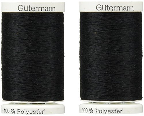 Sew-All Thread 547 Yards-Black (2 Pack) by Gutermann
