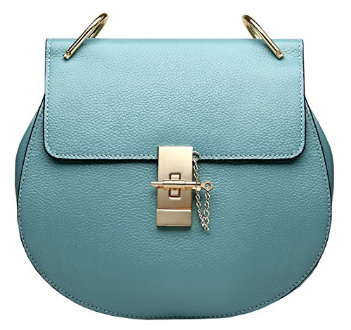 Bags Womens Leather Saierlong Black Designer Blue Ladies Genuine Shoulder Lake Cross Body 8ECCqSwXx