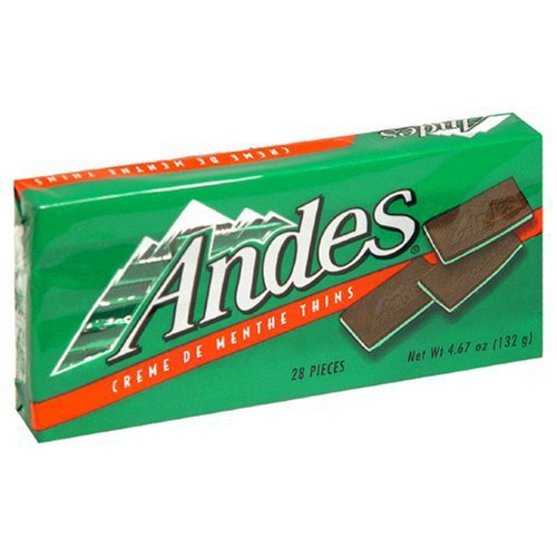 Chocolate Creme Mint (Andes Creme De Menthe Mints Christmas Season's Greeting Candy, Pack of 3, 4.67 oz)