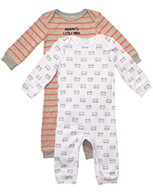 Carter's Boys Mommy's Little Man Crab 2-pack Jumpsuits (NB-9M)