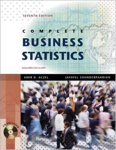 Complete Business Statistics with Student CD (The Mcgraw-hill/Irwin Series)