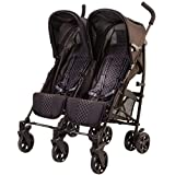 guzzie+Guss Twice Double Umbrella Stroller, Black