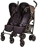 guzzie+Guss Twice Double Umbrella Stroller, Black