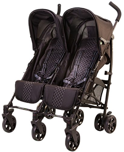 guzzie+Guss Twice Double Umbrella Stroller, Aqua