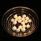 2″ White Floating Candles (Set of 50) Wedding Party Favor Unscented Floater Disc