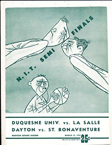 1952 3/11 NIT semi finals La Salle Dayton basketball program