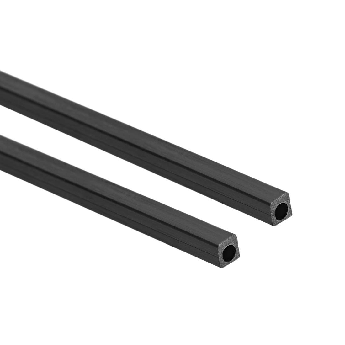 Carbon Fiber Round Tube 3mm x 2mm x 400mm Carbon Fiber Pultrusion Tubing 3 Pcs