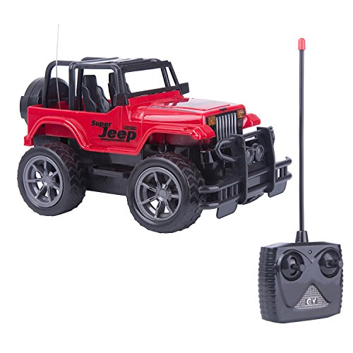 Egoelife RC Jeep Wrangler Vehicle Off-Road Remote Control Car Crawler 1:24 Scale Electric Toy RC Crawler (Red) ()